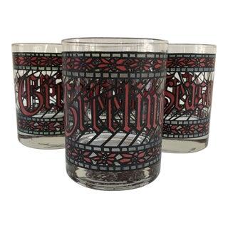 "Midcentury Christmas Holiday ""Season Greetings"" Cocktail Glasses - Set of 4 For Sale"