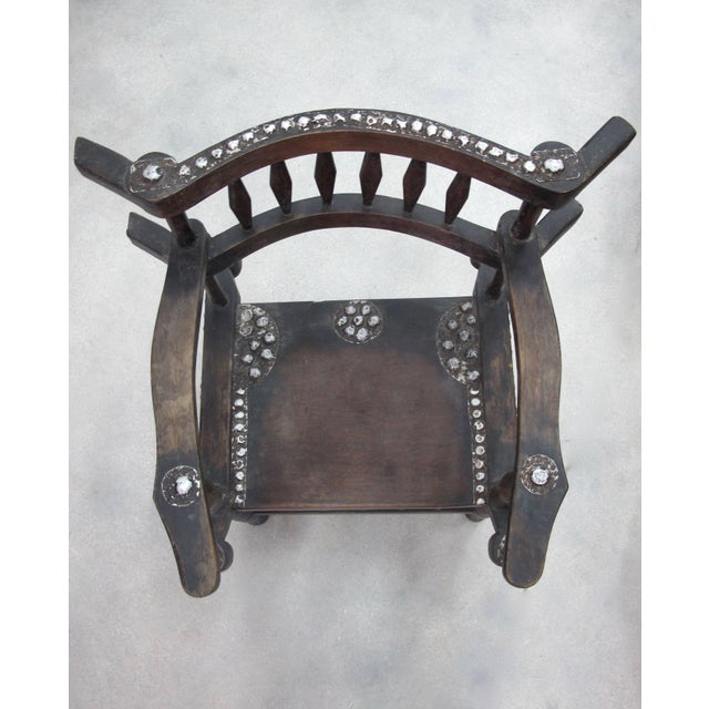 Metal Rare 1950s Ashanti Throne Chair For Sale - Image 7 of 10