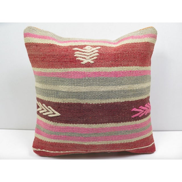 Vintage Turkish Kilim Pillow Cover - Image 2 of 3
