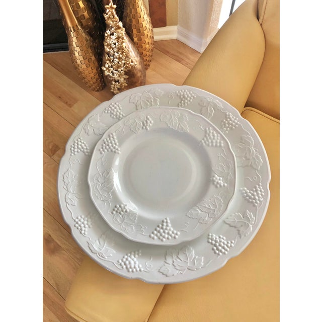 1950s Harvest Milk Glass Torte & Serving Plates by Colony - a Pair For Sale - Image 13 of 13