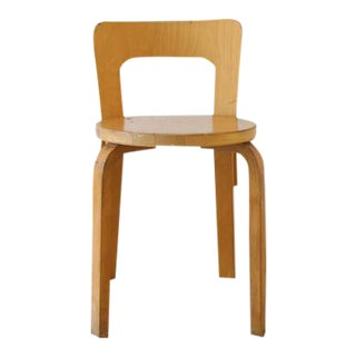 Alvar Aalto for Artek Birchwood Chair 65 For Sale