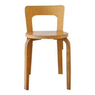 Alvar Aalto for Artek Birchwood Chair 65 For Sale