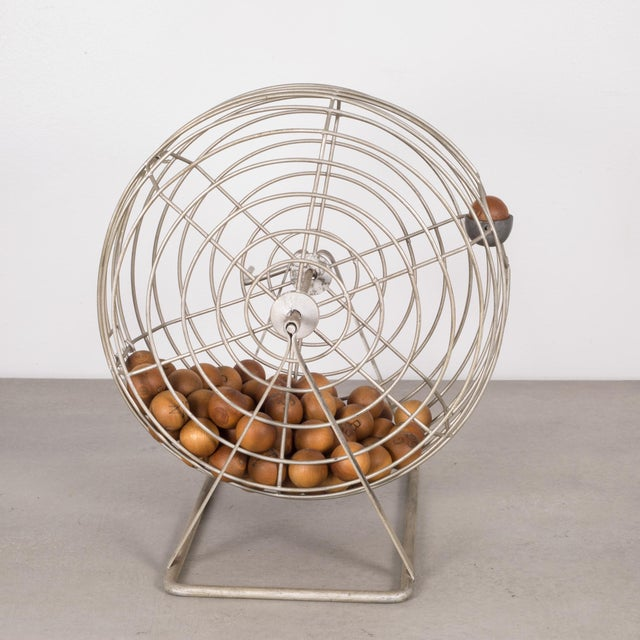 Carnival Antique Bingo Cage C. 1940 For Sale - Image 3 of 6