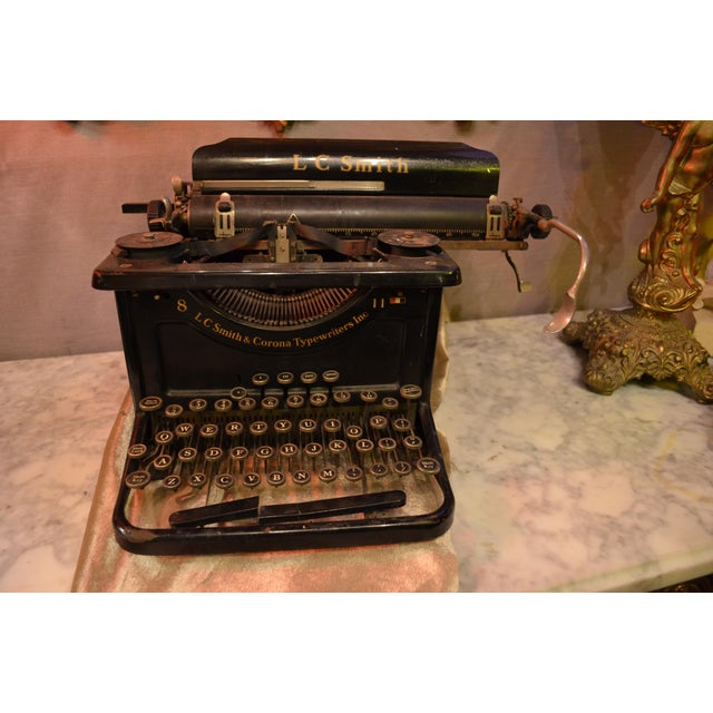 Metal Lc Smith & Corona Typewriter For Sale - Image 7 of 7
