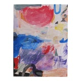 "Image of ""Tempest on the Shores of Honah Lee"" Contemporary Abstract Expressionist Acrylic Painting For Sale"