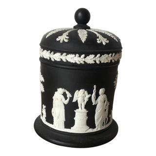 Vintage Wedgewood Collectible Olympus Cigarette Tobacco Dresser Trinket Jar For Sale