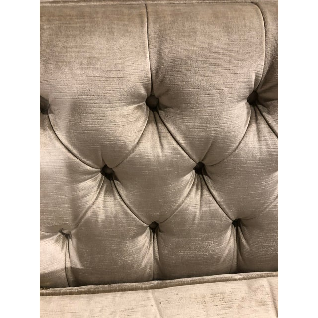 Kingston Transitional Scalamandre Velvet Upholstered Sofa For Sale In New York - Image 6 of 12