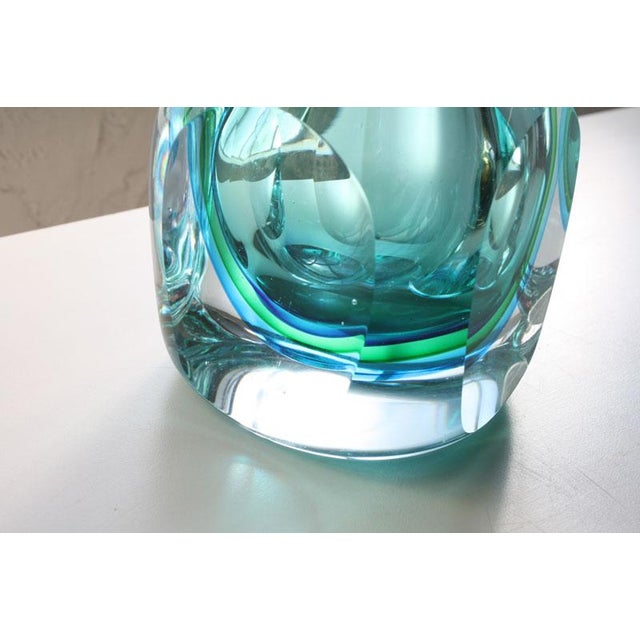 Gold Faceted Murano Sommerso Glass Vases - Set of 3 For Sale - Image 8 of 8