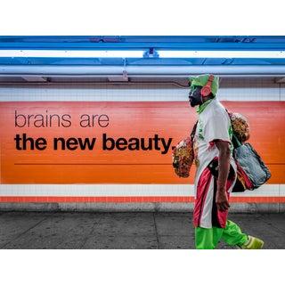 """Brains, Beauty - New York City"" Contemporary Figurative Street Art Photograph"