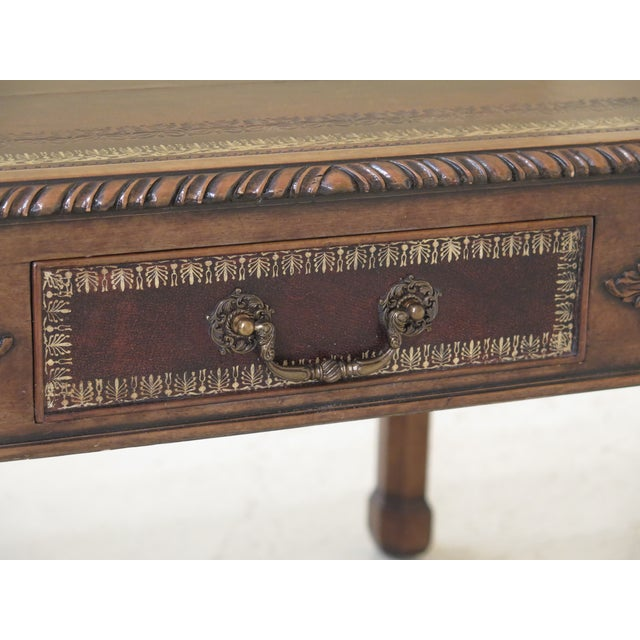 1990s Chippendale Maitland Smith Square Leather Top Games Table For Sale In Philadelphia - Image 6 of 11