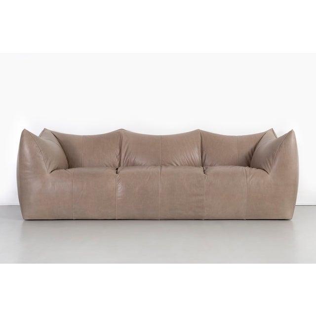 """Le Bambole"" sofa designed by Mario Bellini for B & B Italia Italy, c 1970s leather 29 ⅛"" h x 96 ½"" w x 34 ½"" d x seat 16""..."