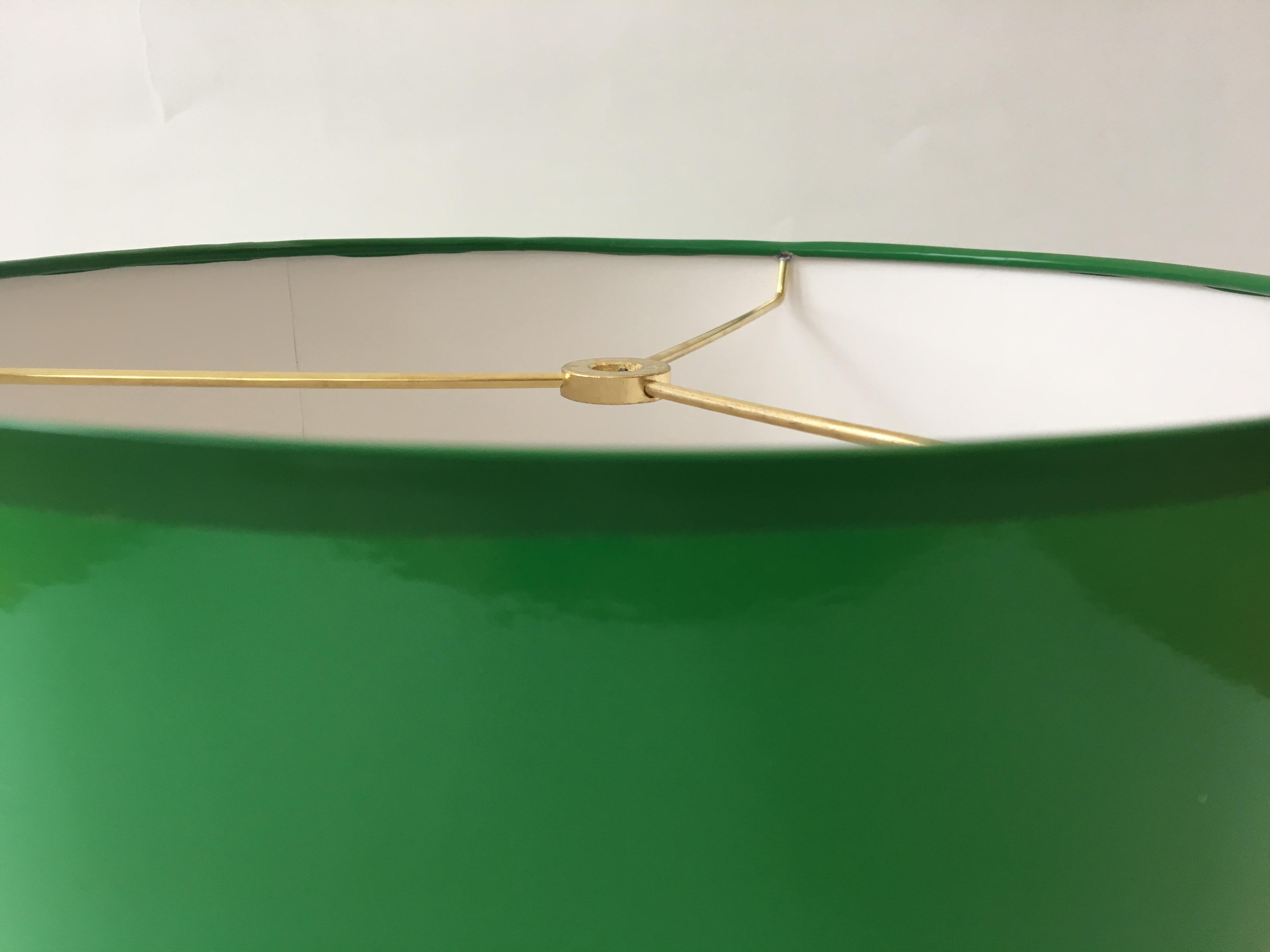 Large Kelly Green Drum Lamp Shade   Image 3 Of 5