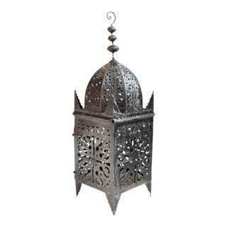 Moroccan Kasbah Iron Lantern For Sale