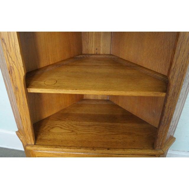 Brandt Ranch Oak Rustic Corner Cabinet - Image 8 of 10