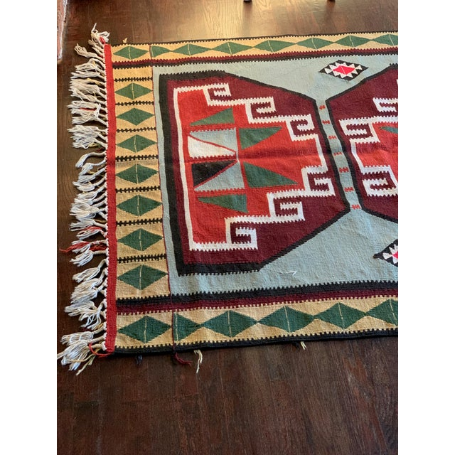 Contemporary 1980s Vintage Handmade Turkish Kilim Rug - 4′ × 9′ For Sale - Image 3 of 6