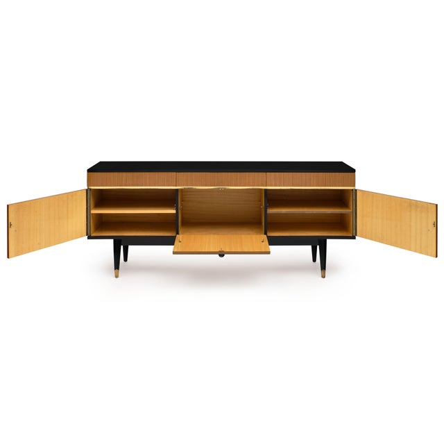 Mid-Century Modern Mid-Century Modern Mirrored Buffet For Sale - Image 3 of 12