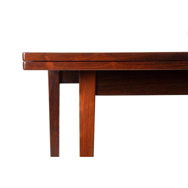 Illums Bolighus Danish Modern Illums Bolighus Rosewood and Blue Tile Folding Table For Sale - Image 4 of 7