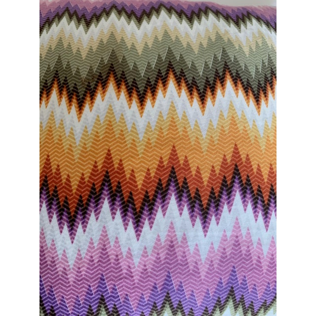 Abstract Missoni Home Multicolor Zig Zag Pillows - Pair For Sale - Image 3 of 7