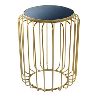 Statements By J Tally Black Marble Top Side Table For Sale