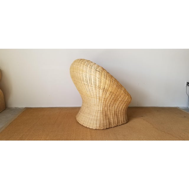 Vintage Woven Wicker Club Chair For Sale - Image 4 of 11