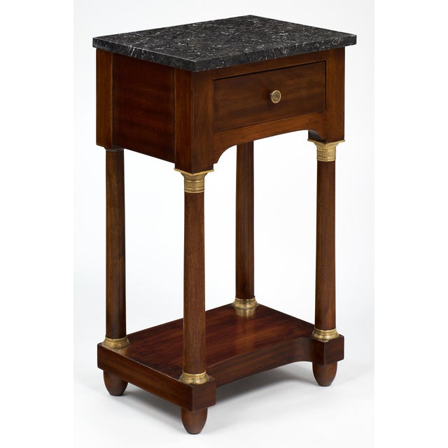 Empire Style Marble Top Side Tables- A Pair - Image 4 of 10