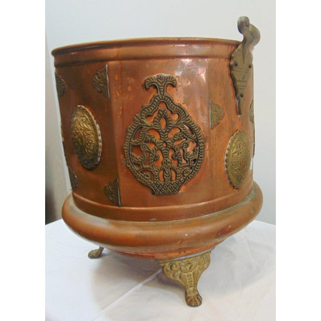 Arts & Crafts Arts & Crafts Copper & Brass Ash Bucket For Sale - Image 3 of 7
