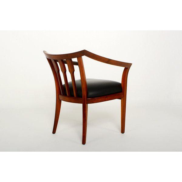 Mid-Century Modern Mid-Century Modern Set of Four Custom Walnut Chairs For Sale - Image 3 of 7