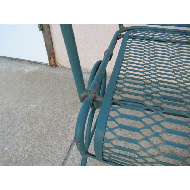 Vintage Spring Patio Dining Chairs - Set of 4 For Sale - Image 10 of 13