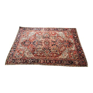 1920s Persian Roomsized Carpet Heriz Oriental Rug