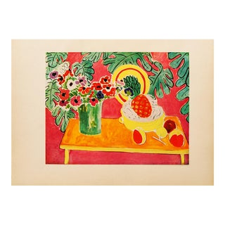 "Henri Matisse Original ""The Pineapple"" Swiss Period Lithograph, C. 1940s For Sale"