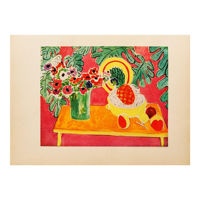 """Henri Matisse Original """"The Pineapple"""" Swiss Period Lithograph, C. 1940s For Sale"""