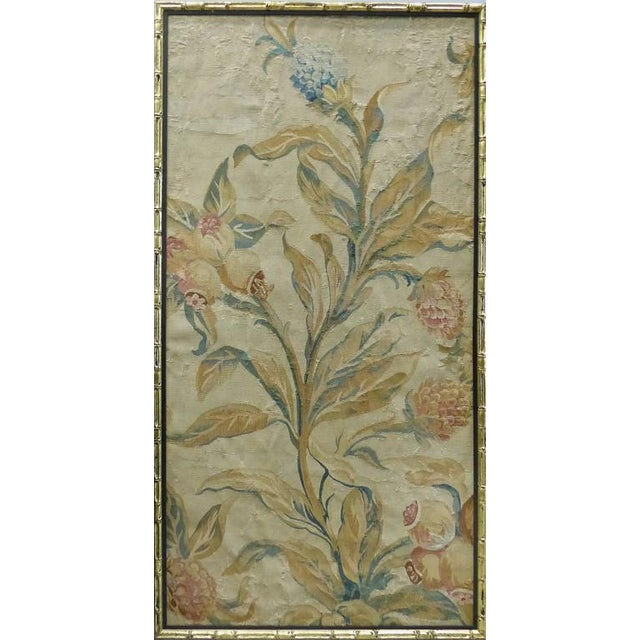 18th Century Floral Aubusson Panels, Set of Three For Sale - Image 4 of 11