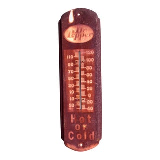 Vintage Dr Pepper Thermometer Sign