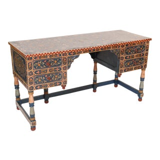 20th Century Moroccan Style Painted Tanker Desk