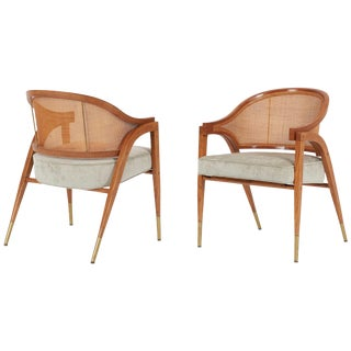 Captain's Armchairs Pair by Edward Wormley for Dunbar For Sale