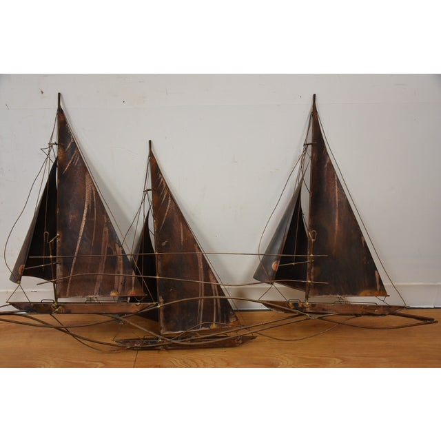 Curtis Jere Sailboat Wall Hanging Sculpture For Sale - Image 10 of 11