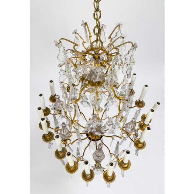 Louis XV 18-Arm Gilded Bronze Birdcage Chandelier For Sale - Image 3 of 13