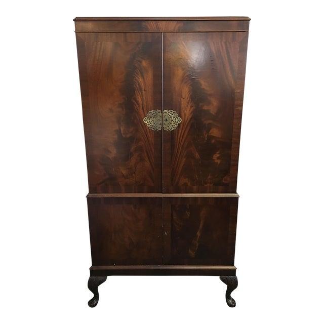 Flame Mahogany Bar Cabinet - Image 1 of 11