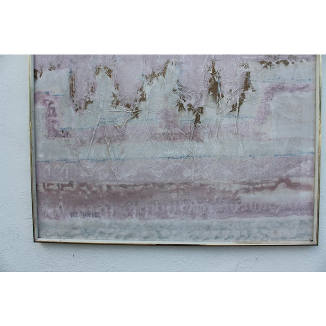 Lee Yoling Texture Oil and Watercolor Abstract Painting - Image 9 of 11