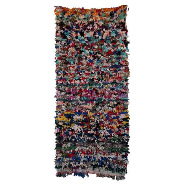 "Boucherouite Moroccan Carpet - 8' x 3'6"" - Image 1 of 2"