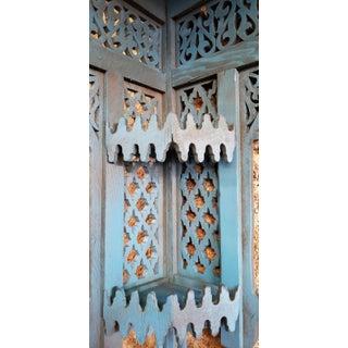 Moroccan Blue Wooden Corner Shelf Preview