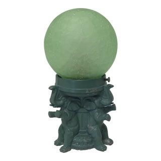 1940s Metal Elephant Globe Lamp For Sale