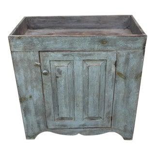 Antique Blue Dry Sink For Sale