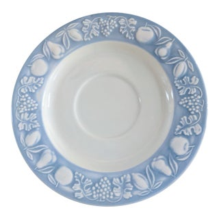 Franco Giorgi by Quadrifoglio Embossed Fruit Pattern Saucer For Sale