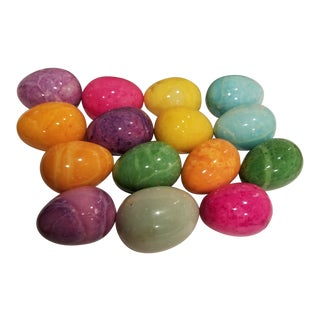 Collection of Italian Alabaster Eggs For Sale