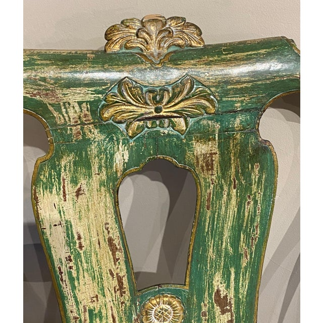 Italian Paint and Gilt Arm Chair For Sale In Dallas - Image 6 of 10