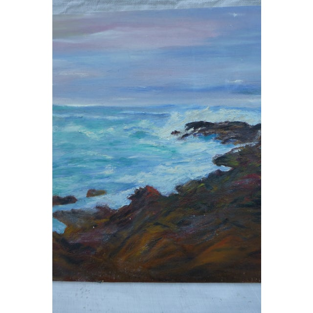 Mid Century Ocean View Painting, H.L. Musgrave - Image 4 of 6