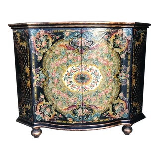 1970s Art Deco Hand-Painted Maitland-Smith Commode For Sale