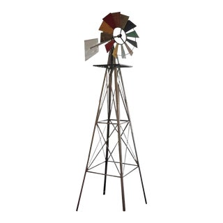 Folk Art Windmill Sculpture For Sale