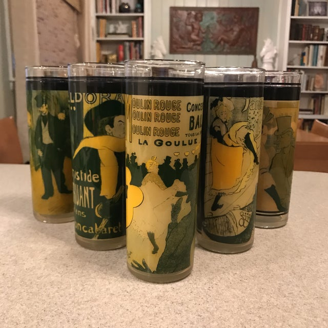 Moulin Rouge Cabaret Mid-Century Skyball Glasses - Set of 7 For Sale - Image 11 of 11